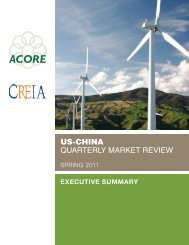 US-CHiNA proGrAM - American Council On Renewable Energy