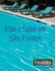 Commercial Sling Furniture - Resort Contract Furnishings