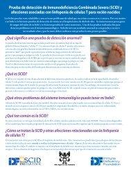 Prueba de detección de Inmunodeficiencia Combinada Severa (SCID)