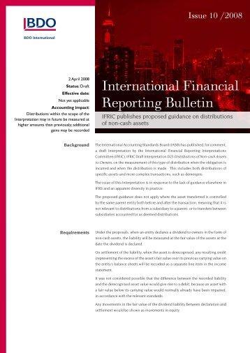 IFRB-2008-10 - BDO International