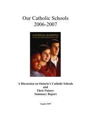 Our Catholic Schools 2006-2007 - the York Catholic District School ...