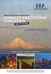 AdvAnced PrActitioner conference - Renal Physicians Association
