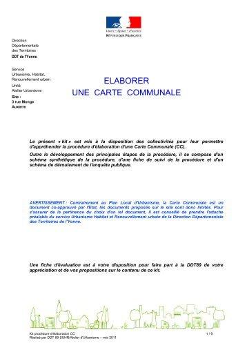 Procédure - 0,76 Mb - Préfecture de l'Yonne