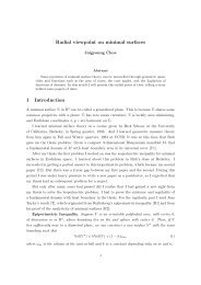 Radial viewpoint on minimal surfaces 1 Introduction - KIAS
