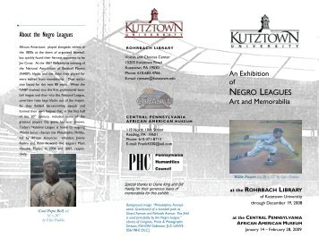 Exhibit booklet (PDF) - Faculty Home Pages - Kutztown University