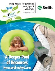 Pump Motors for Swimming Pools, Spas & Jetted ... - PoolSupplyWorld