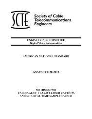 ANSI/SCTE 20 2012