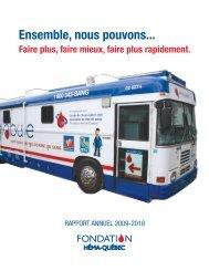 Rapport de la Fondation Héma-Québec 2009-2010