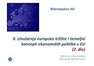 II. Unutarnje europsko tržište i temeljni koncepti ekonomskih politika ...