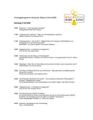 Vortragsprogramm Hochzeit, Baby & Kind 2009