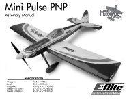 Mini Pulse PNP Manual - E-flite