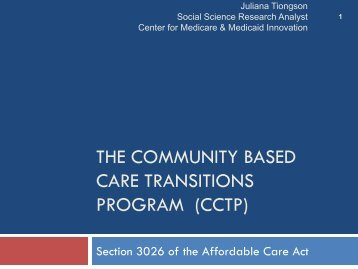 Aging and Disability Resource Centers and Care Transitions