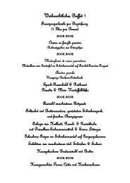 Weihnachtliches Buffet 1 - Pinocchio Leipzig