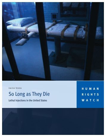 So Long as They Die - Human Rights Watch
