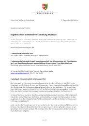 Medienmitteilung / Ergebnisse Gemeindeversammlung (PDF, 53kB)