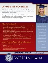 Go Further with WGU Indiana - Indiana Online University - Western ...