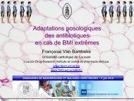 Adaptations posologiques des antibiotiques en cas de BMI ... - UCL