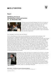 Report Wolfsberg Arts Forum Shooting Stars: Kunst und Karriere 22 ...