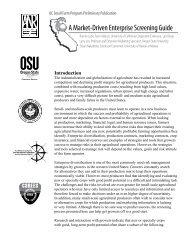 A Market-Driven Enterprise Screening Guide - University of ...