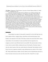 Relationship between Hardness Levels in Eslava Creek and ...