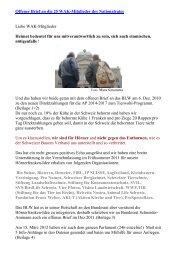 Offener Brief an die 25 WAK-Mitglieder des ... - Naturschutz.ch