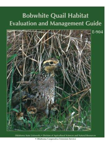 Bobwhite Quail Habitat Evaluation and Management Guide