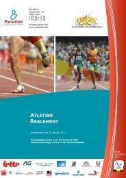 Reglement atletiek voor personen met een handicap - Parantee