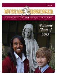 MUSTANG MESSENGER - Bishop McNamara High School