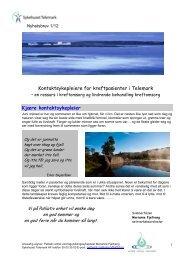 Nyhetsbrev nr 1 - Sykehuset Telemark