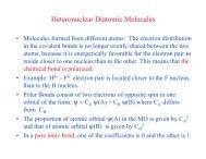 Heteronuclear Diatomic Molecules
