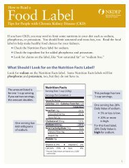 How to Read a Food Label - National Kidney Disease Education ...