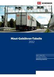Maut-Gebühren-Tabelle 2012 - Schenker Deutschland AG