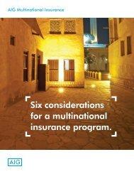 Six considerations for a multinational insurance program. - AIG.com