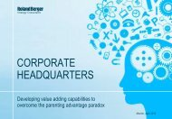 Corporate Headquarters – Developing value ... - Roland Berger