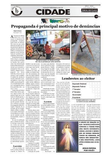 Propaganda é principal motivo de denúncias - Jornal dos Lagos