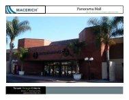 Panorama Mall Technical Tenant Criteria Manual - Macerich