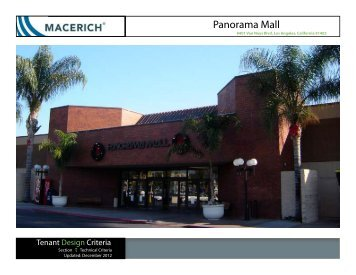 Panorama Mall Technical Tenant Criteria Manual - Macerich
