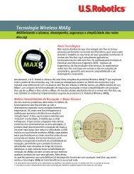Tecnologia Wireless MAXg - U.S. Robotics
