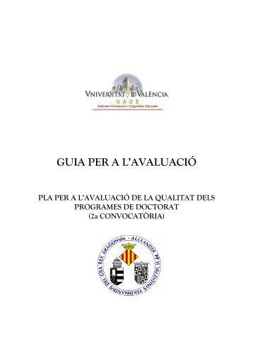 GUIA PER A L'AVALUACIÓ - Universitat de València