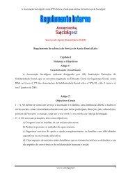 Serviço de Apoio Domiciliário (SAD) Regulamento de ... - Socialgest