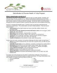 Detoxification to Promote Health: A 7-Day Program - UW Family ...