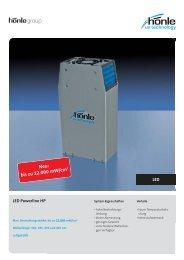 Produktinformation LED Powerline HP - Dr. Hönle AG