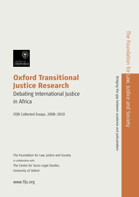 Debating International Justice in Africa - Foundation for Law, Justice ...