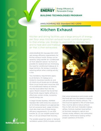Kitchen Exhaust - Building Energy Codes