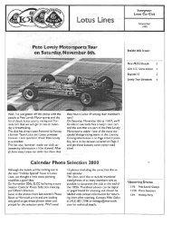 Nov - Evergreen Lotus Car Club