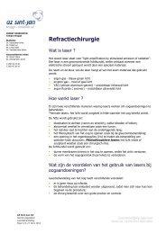 Laser behandeling - AZ Sint-Jan Brugge