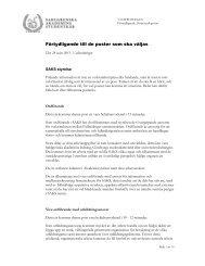 Förtydligande till de poster som ska väljas - Göteborgs universitet