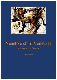 Veneto è chi il Veneto fa - PNV. Press News Veneto
