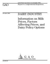 Information on Milk Prices - US Government Accountability Office