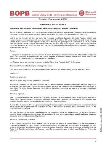 Divendres, 16 de setembre de 2011 ADMINISTRACIÓ ...